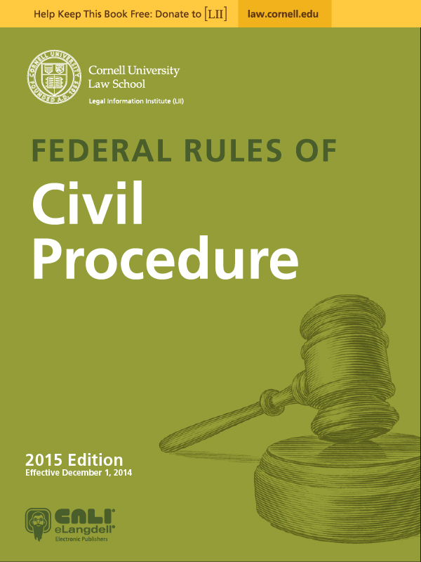 Federal Rules of Criminal Procedure ebook by LII, 2013.