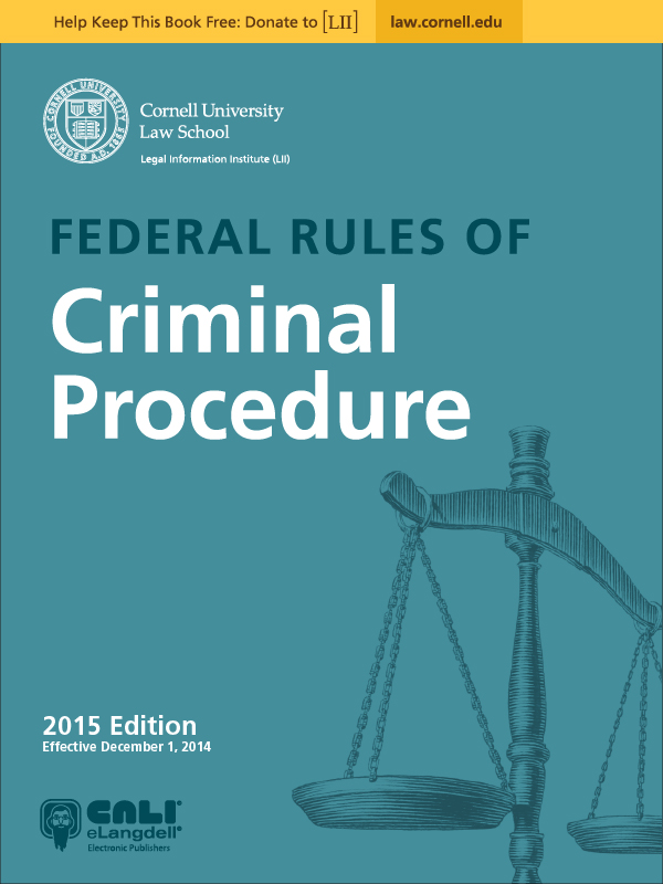 Federal Rules of Criminal Procedure icon