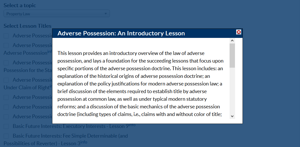 property law adverse possession