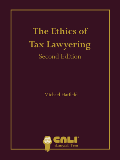 Ethics of Tax Lawyering Cover - Michael Hatfield