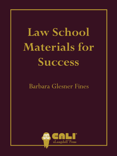 Law School Materials for Success Cover - Glesner Fines